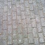 Grijze betonklinker
